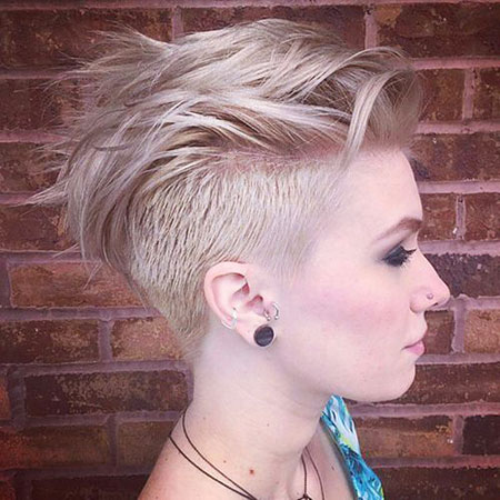 Mohawk Hairtyle, Pixie Undercut Cut Hair