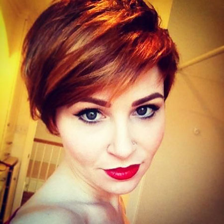 Red Hair Pixie Color