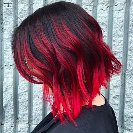 Hair Red Ombre Dark