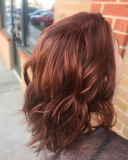 Auburn Layered Hair Medium