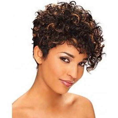 Curly Hair Short Afro
