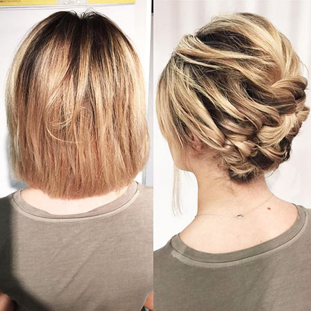 Hair Chignon Wedding Short