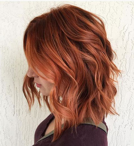 Hair Red Color Bob