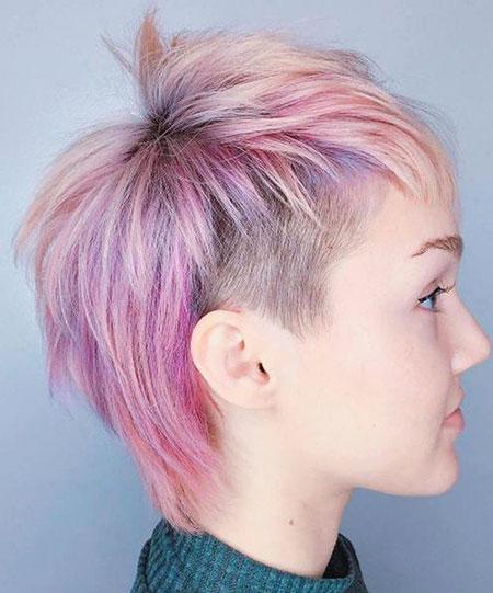 Pixie Undercut Hair Pastel