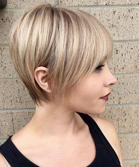 Pixie Choppy Blonde Tapered