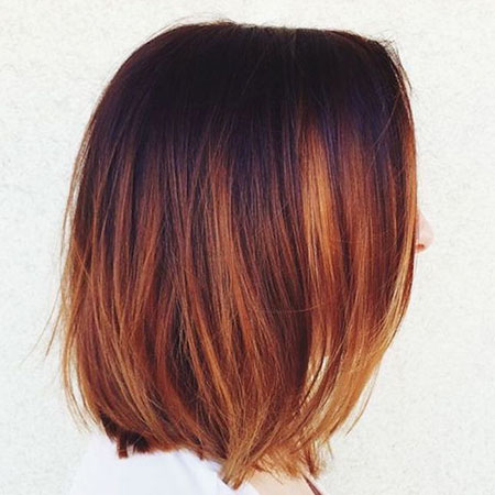 Auburn and Brown Ombre, Color Hair Balayage Caramel