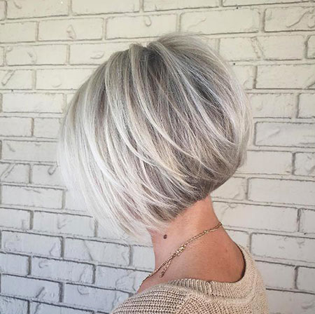 Grey Blonde Bob, Bob Blonde Inverted Hair