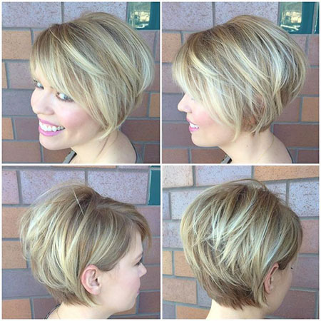 Stacked Bob Haircut with Side Bangs, Pixie Bob Hair Layered