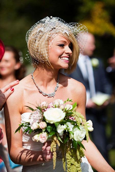 Short Bob for Wedding Day, Wedding Bob Bride Photography
