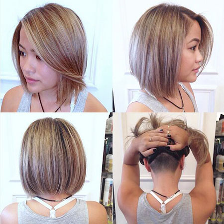 Long Bob Haircut with Undercut, Bob Undercut Hair Short