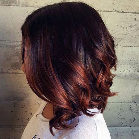 Dark Red Highlights, Hair Color Balayage Fall