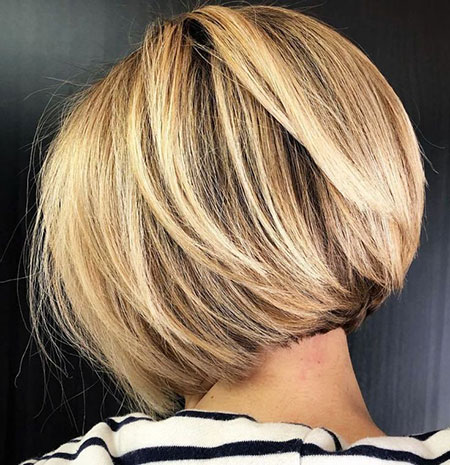 Casual Short Bob, Bob Blonde Layers Thick