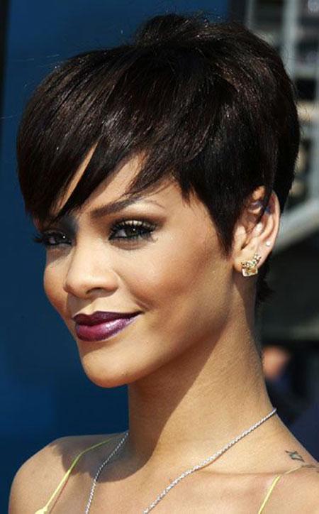 Pixie Bangs, Hair Rihanna Pixie Short