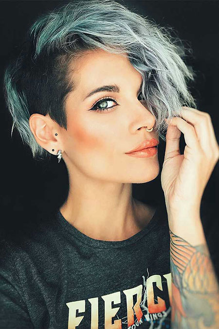 Side Undercut Short Hair for Girls, Undercut Hair Short Women