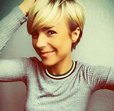 Blonde Pixie Choppy Hair