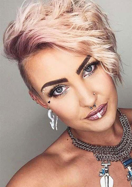 Short Hair Women Undercut