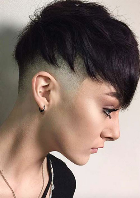 Undercut Pixie Choppy Short