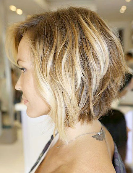 Bob Wavy Shaggy Blonde