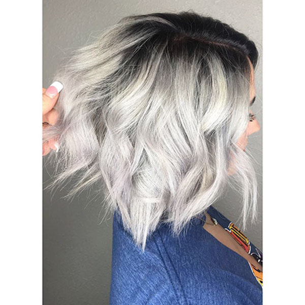 Wavy Blonde Short Hair