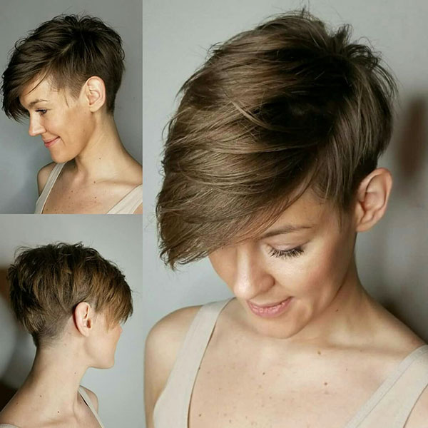 Short Pixie Haircuts Front And Back View