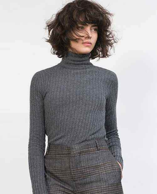 Short Curly Hair Women-12