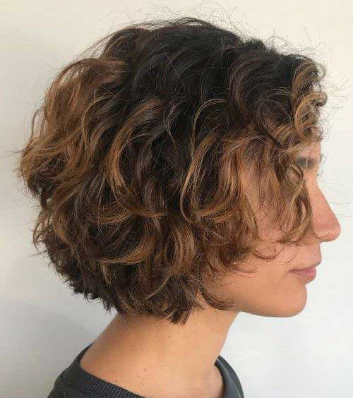 Short Curly Hair Women-13