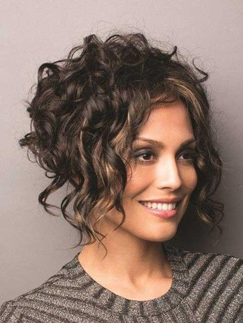 Short Curly Hair Women-14