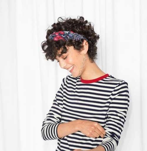 Short Curly Hair Women-16