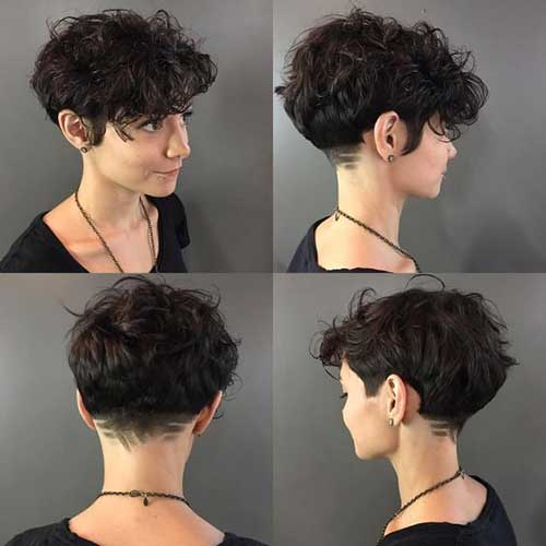 Short Curly Hair Women-18