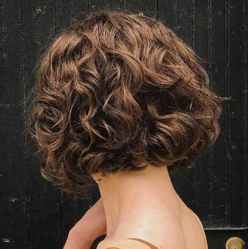 Short Curly Hair Women-19