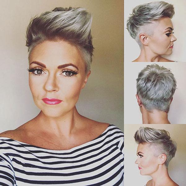 Silver Pixie Cut