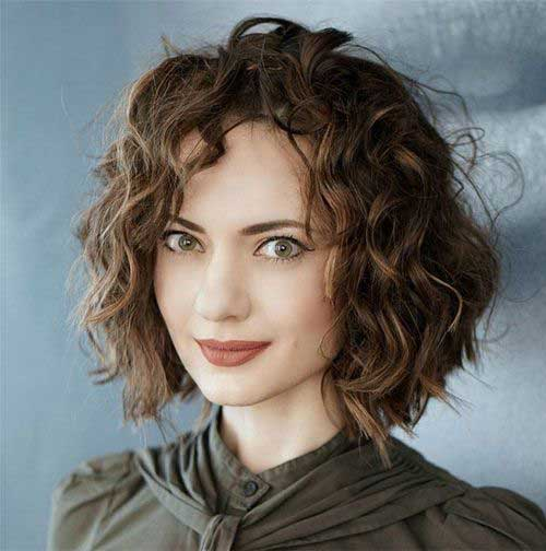Short Curly Hair Women-20