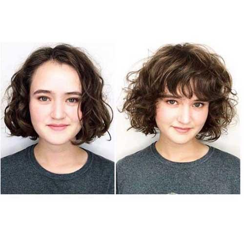 Short Curly Hair Women-7