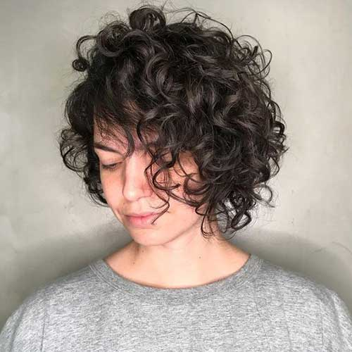 Short Curly Hair Women-8