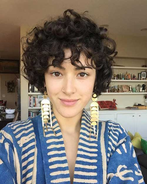 Short Curly Hair Women-9