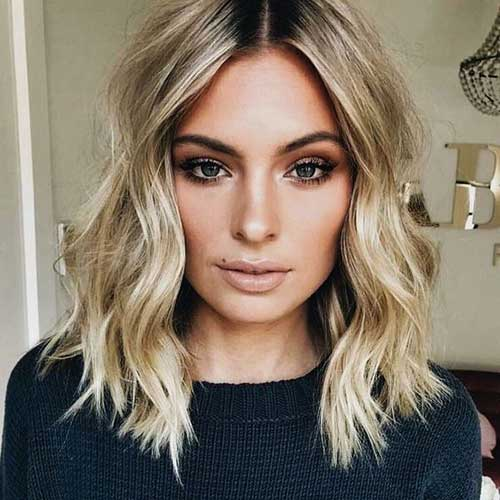Short Wavy Blonde Hair-14