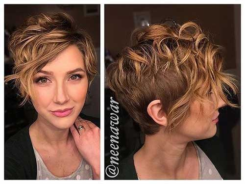 Short Wavy Blonde Hair-15