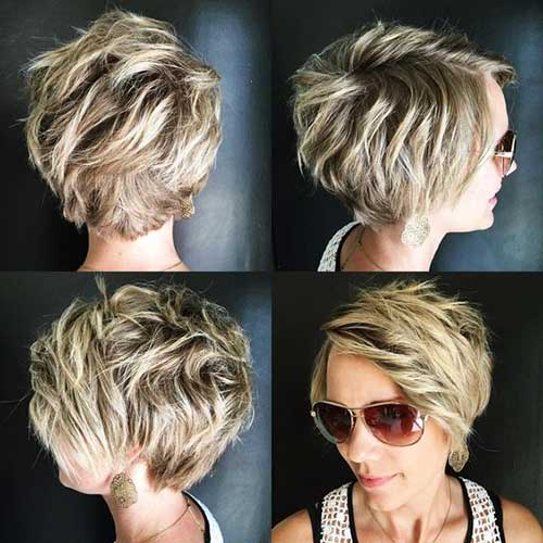 Short Wavy Blonde Hair-9