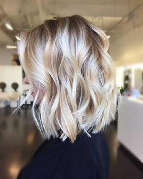 Blonde Wavy Bob Hairstyles