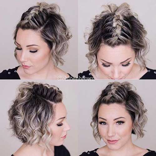 Cute Braids for Short Curly Hair