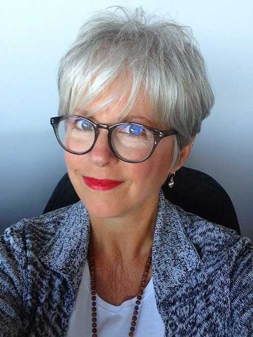 Short Pixie Cuts for Fine Grey Hair
