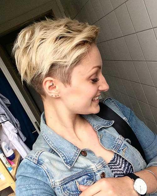 Wavy Blonde Pixie