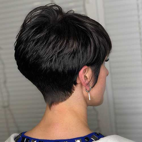 Short Haircut For Women Over 50 Back View