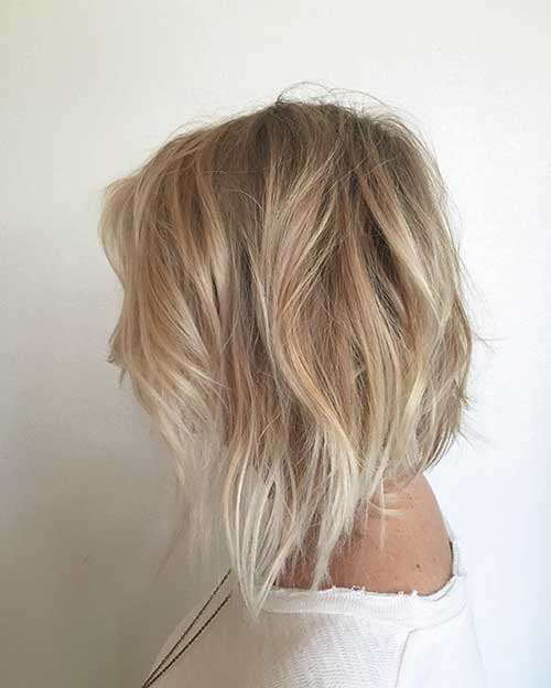 Soft Wavy Short Hair