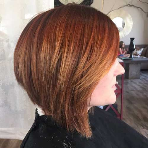 Copper Inverted Bob Cut