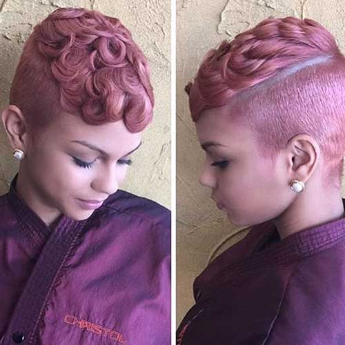 Shaved Short Hairstyles For Black Girls