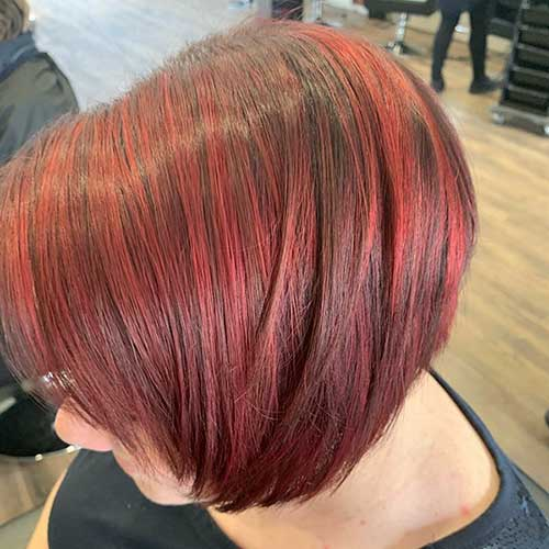 Red Bob Hairstyle