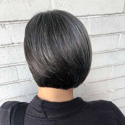 Short Black Bob Hair Cut