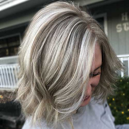 Ash Blonde Short Hairstyle