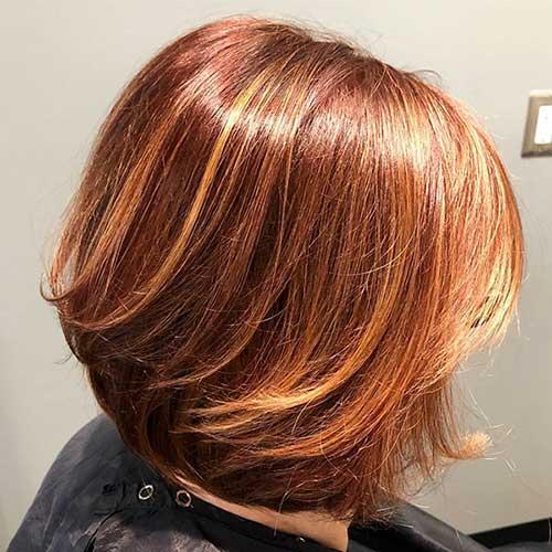 Copper Bob Hair Style